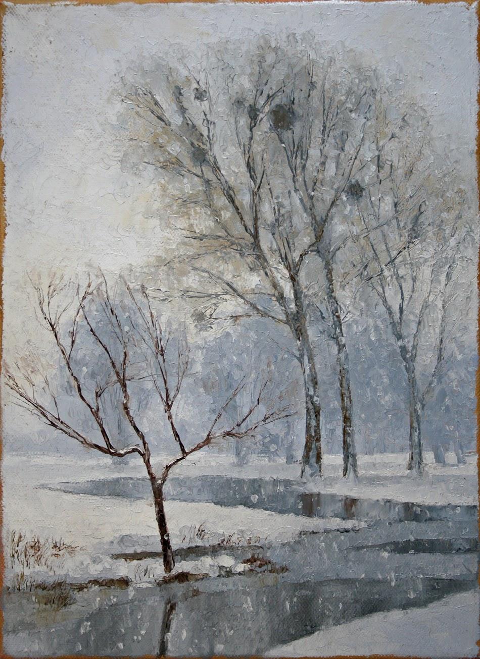 Neige sur la vallée de l'Oise