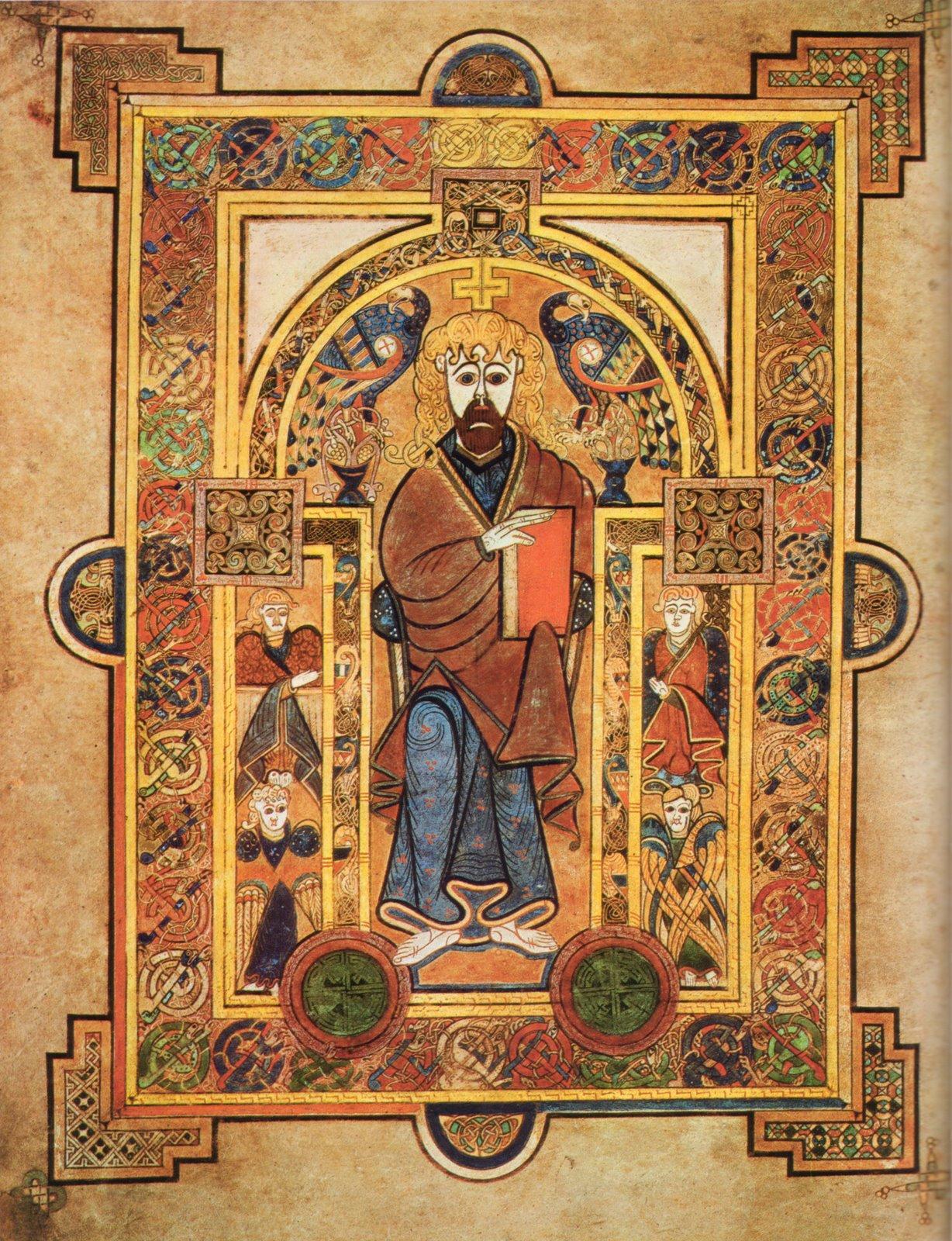 Livre de Kells – Christ en majesté - Enluminure celtique – 7e ou 8e siècle –Trinity College Library - Dublin